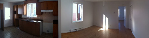 Panorama de l'appartement refait